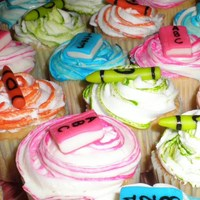 "Back To School Cupcakes I did these for our church's ""Back to School Bash!"" I was rushed for time in making these, so they were not very uniform,..."