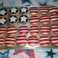 Fourth Of July Stars & Stripes  I told my friend I'd bring pound cake to the cookout....just didn't specify which form. Came up with this last minute, thus the...