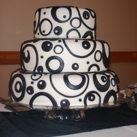 Black And White Circles 3 Tier   In honor of 20 and 30 year teachers in our district!