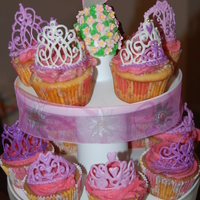 Princess Tiara Cupcakes  These pretty cupcakes made my dd's day for her 3rd bd! The Tiara's were fun to make - I found the instructions here on...