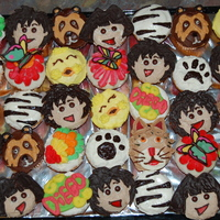 Go Diego Go Cupcake Collage Variations on the Go Diego Theme - these were for a birthday party! Many pieces were cut from candies, or handmade with chocolate! I'd...