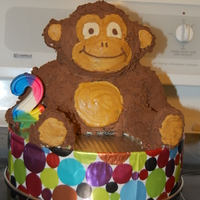 3D Monkey  This cake was for my daughter's 2nd birthday. I made it using the wilton 3D teddy bear pan. Check my blog for how to.... www....
