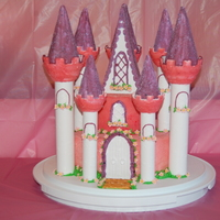Princess Castle I made this castle for my dd 3rd birthday! The bottom tier is orange chocolate, the top tier pina colada cake. Very fun but time consuming...