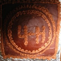 Chocolate 4-H Cake! this cake has three different coclates in it, cake: box mix, icings: homemade coclate butter cream icing, and chocolate from a can. it was...