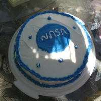Nasa I made this one for my sister hope, this cake is made with buttercream icing and is yellow cake mix