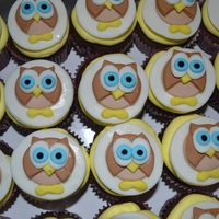 My Owl Cupcakes I made these for my daughter's class bc her teacher loved owls. The owls are fondant on top of butter cream :) Hope you like them.