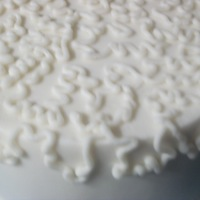 "Cornelli Lace 6 inch cake frosted with my version of Sugar sacks buttercream recipe. Cake was smoothed using the ""Melvira Method"". This my..."
