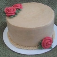 Bithday Cake 6 inch Chocolate cake with Brown sugar swiss buttercream and royal icing roses.Made for my sister -in -law's birthday. This is my 4th...