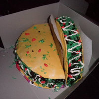 Taco Cakes These are a couple of tacos a friend asked me to make last minute for a fiesta birthday party they were throwing. Chocolate cake, with...