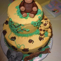 Wild Animals Baby Shower This was a cake a good friend asked me to make for her sister's baby shower. She showed me the picture and I did my best to mimic. It...