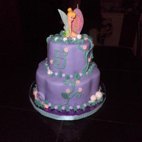 Tinkerbell Oreo cake with MMF covering. MMF caterpillar, snail and mushrooms. Who doesn't love Tinkerbell?!