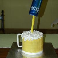 Beer Mug all buttercream with fondant accents