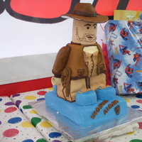 Lego Indy This one was not fun to drive to the party with. Ugg.