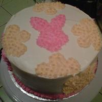 Easter Cake Strawberry with cream cheese