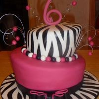 Zebra And Bright Pink This was made for a little girl's birthday... her theme was zebra and bright pink so this is what I came up with. The stripes are...