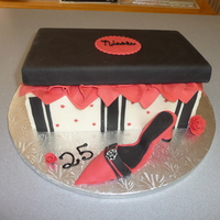 Shoe Box Cake This was my first Shoe Box Cake & High Heel, did high heel with my own rough template, decided to order shoe making kit for next one, I...