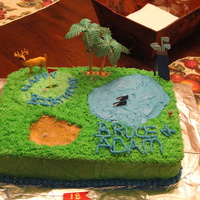 Golf Cake With Deer On Course