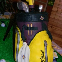 Standing Golf Bag grooms cake