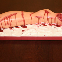 Amy's Severed Leg Severed Leg Cake for Halloween Party