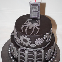 Venom (Spiderman) Steampunk This is my third cake to decorate with fondant and my first with two tiers. It was a lot of fun! ... And a whole lot of work!! I had...