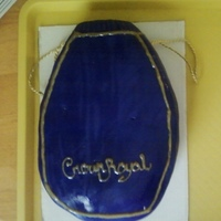 Crown Royal Cake this is a crown royal bag anmd the cake has an actual bottle of crown royal inside it