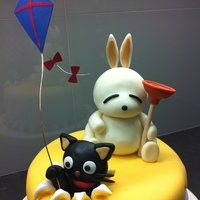 Mashimaro And Chococat Birthday Cake My coworker wanted a cake similar to my Minnie Mouse cake for her younger brother, who is a big Mashimaro (Korean rabbit cartoon) and...