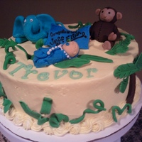 Jungle Baby Jungle baby shower cake...figures MMF TFL!!!