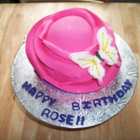Pink Rose My second rose cake. I decided to add a little butterfly for extra girliness