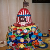 Big Top I made this for my friend's son's first birthday which had a circus theme. The lion is completely out of fondand and sitting on a...