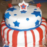 Fourth Of July My neighbours are American so I made this cake for them for their party