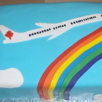 Alex's Goodbye Cake Cake was made for our receptionist who was leaving for a career as a flight attendant