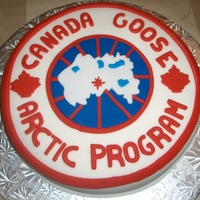 Canada Goose Logo Made this cake for a meeting our store was having with Canada Goose