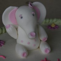 Baby Elephant For Baby Shower Cake