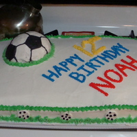 Soccer Ball Sheet Cake all BC and RI soccer balls around border