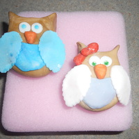 Owls! These are for a cake competition I'm entering soon. They were just a test run and I'm really happy with how they turned out! They...