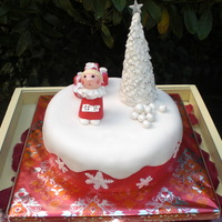 Little Choirboy At Christmastime For a christmas fotoshoot for a well read magazine I mad this cute little Christmas cake. This Vanilla Sky (own recipe, kind of sponge cake...