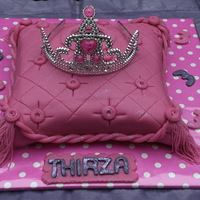 Pillow Cake With Tiara And Mirror This cake was just so much fun to make! I loved it!!! It was my first pillow cake and I loved how it turned out. Behind the tiara is a real...