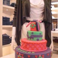 Fashion Cake 3 Tier Demonstration cake made for the grand opening of a fashion store. TFL