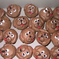 Dog Faces Chocolate Buttercream Doggies