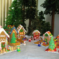 Gingerbread Village Gingerbread and Graham Cracker houses