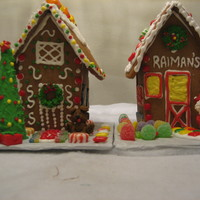 Sample Gingerbread Houses Samples to help give ideas to kids