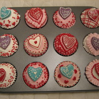 Valentine Cupcakes Buttercream, Candy deco