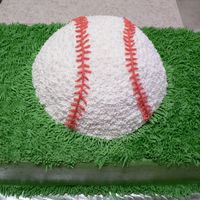 Baseball Cake I made this cake for my son's baseball team party. The grass was a blast!! (It needs to be mowed!) This was VERY short notice and the...