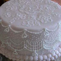First Attempts This was my 1st time trying string work, bridge work, royal icing embellishments and brush embroidery. I have a lot to learn!!! I'd...