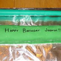 Star Wars Birthday Cake This is a light saber for my son's birthday. Chocolate cake, chocolate buttercream, marshmellow fondant on top. It is sweet, and the...