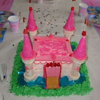 "Img_1090.jpg Castle cake for Cinderella birthday. This was the first ""creative"" cake I ever did."