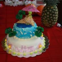 Luau Princess Cake I used my Cricut Cake for the MMF designs