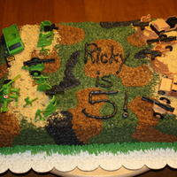 Boy's Camo Birthday Cake