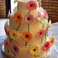 Gerber Daisy Wedding Cake