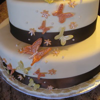 Orange And Yellow Butterfly Cake